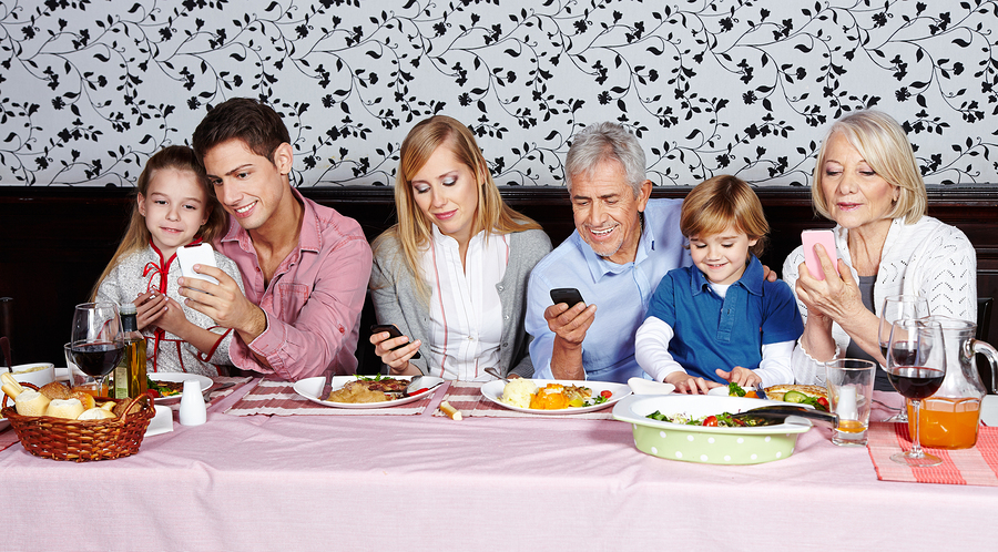 Why we should all be making exceptions to the 'no mobiles at the restaurant table' rule