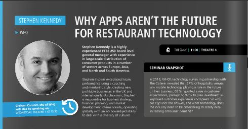 wi-Q to bring market leading mobile ordering technology to Restaurant Tech Live