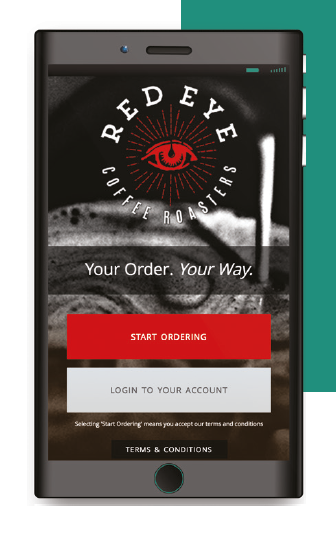 red eye coffee mobile ordering