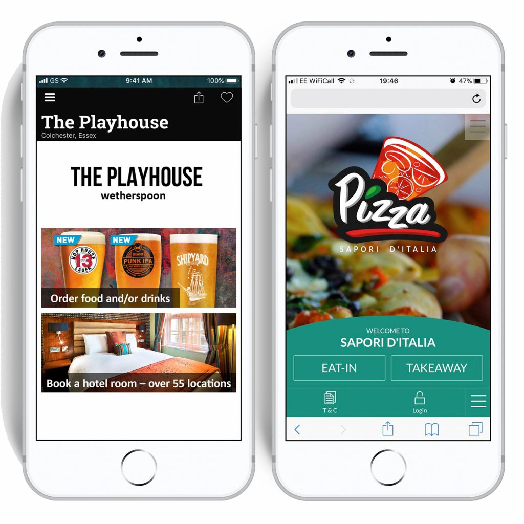 Wetherspoons Order and Pay app vs wi-Q web-based app